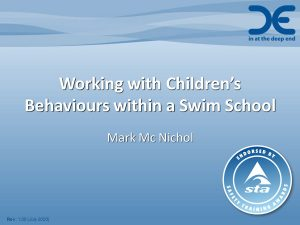 Working with Children's Behaviours within a Swim School